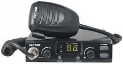 Автомобильная радиостанция Vector VT-27 COMFORT | 10Вт каналы:80 (900) подсв дисплея, шумодав,быстрая установка авар канала